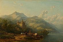 DE LEYLANDT(wohl Schweiz, 19. Jahrhundert)Schloss