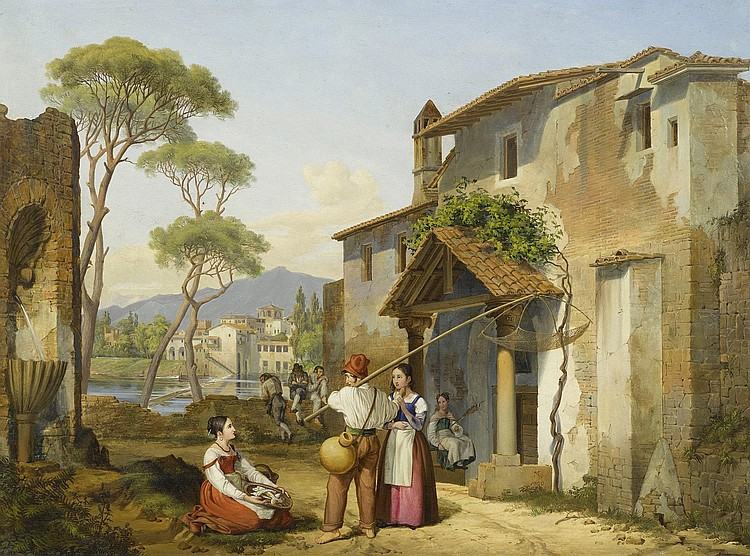 NEHER, MICHAEL (1798 Munich 1876) Italian street