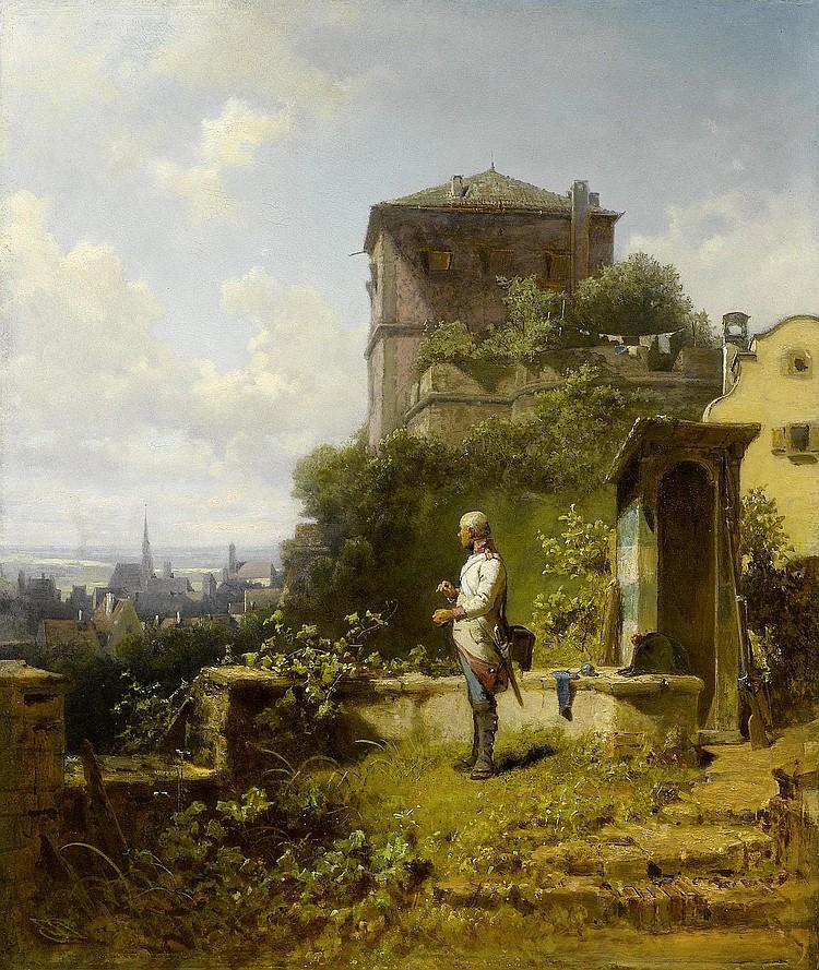 SPITZWEG, CARL (1808 Munich 1885) Lueg ins Land.