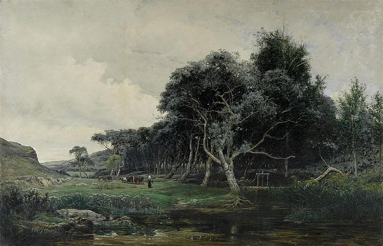 SAINTIN, HENRI (1846 Paris 1899) Landscape with a