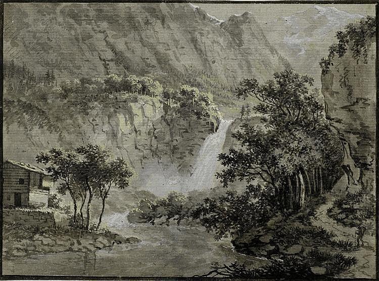 HESS, LUDWIG(1760 Zurich 1800)Mountain landscape
