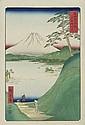 A WOODCUT PRINT BY UTAGAWA HIROSHIGE (1797-1858).