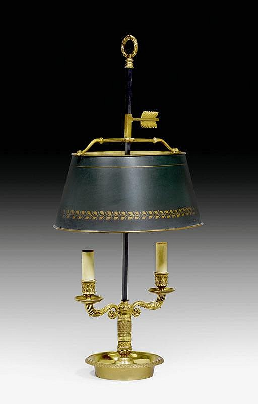 BOUILLOTTE LAMP,Restauration style, Paris.Bronze,