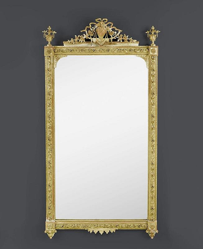 IMPORTANT MIRROR,Louis XVI style, France, late