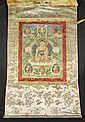 A THANGKA OF SHAKYAMUNI.Tibet, 19th c. 60x41 cm.