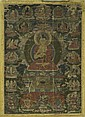 A THANGKA OF BUDDHA SHAKYAMUNI WITH EIGHT