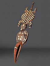 GURUNSI MASKEBurkina Faso. H 150 cm.Provenienz: