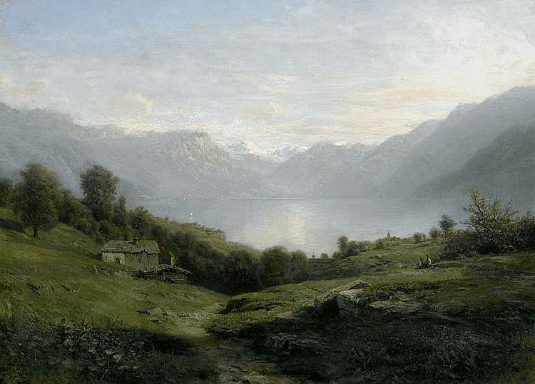 LORTET, LEBERECHT(circa 1826 Oullins 1901)View of