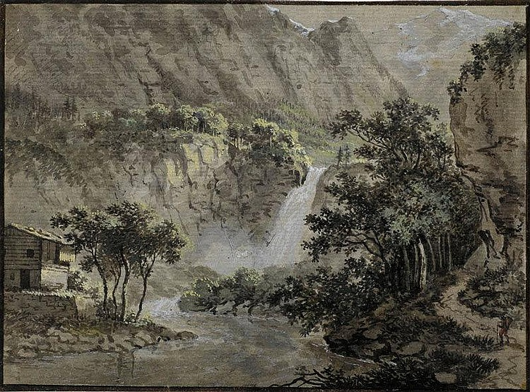 HESS, LUDWIG (1760 Zurich 1800)Mountain landscape
