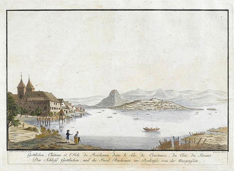 LAKE CONSTANCE. Johann Thomas Hauer (1748-1820)