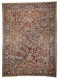HERIZ antique.Red ground, typically patterned,