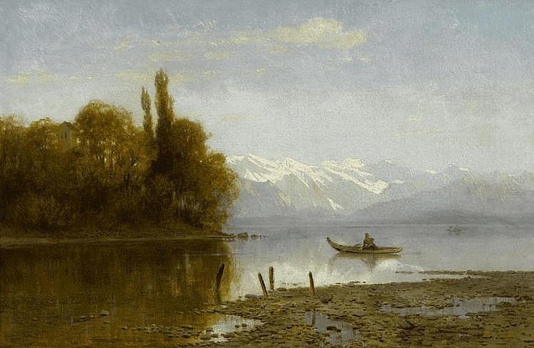 STEFFAN, ARNOLD (1848 Munich 1882) Starnberg lake.