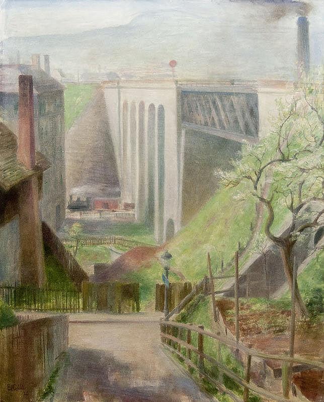 GUBLER, EDUARD (1891 Zurich 1971) Letten-Viaduct,