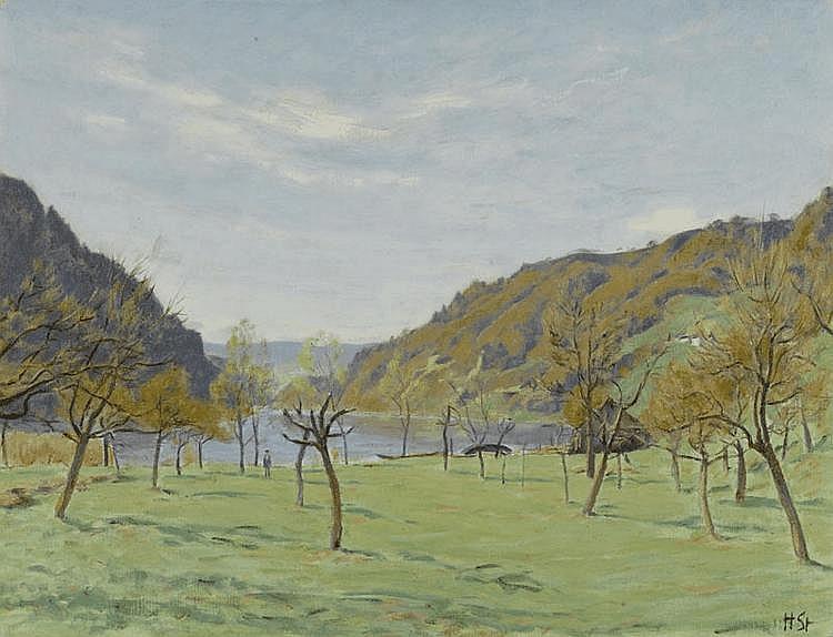 STURZENEGGER, HANS (1875 Zurich 1943) Rheintal at