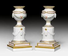 PAIR OF CANDELABRAS IN THE LOUIS XVI STYLE,