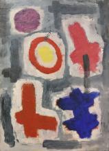 Jean VILLERI (1896-1982), ''signes et couleurs'' 1956.