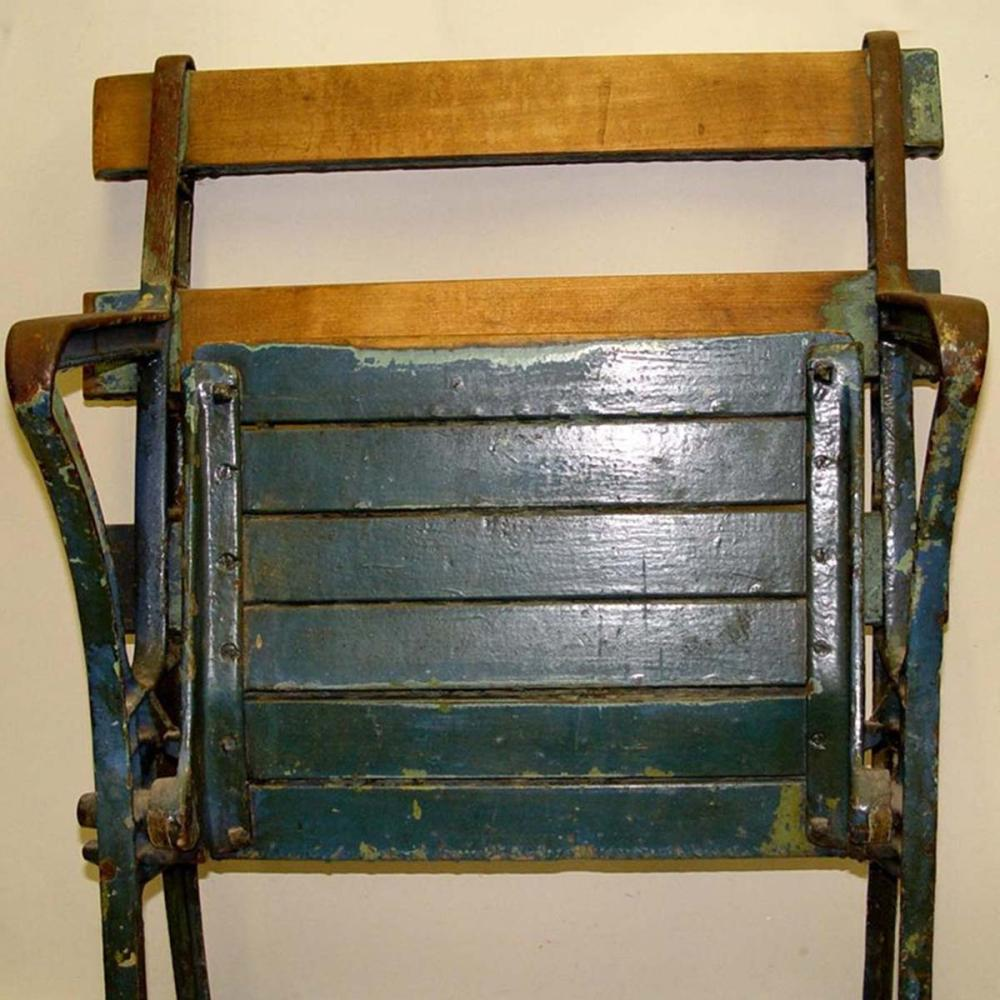 BABE RUTH ERA CAST IRON WOOD YANKEE STADIUM SEAT CHAIR