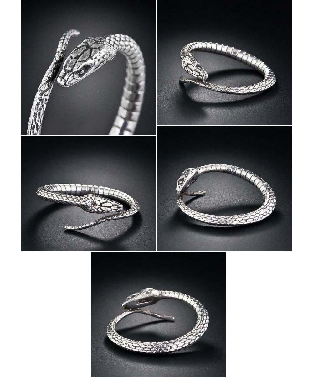 TIFFANY STERLING SILVER SNAKE SCARF RING VIPER SERPENT