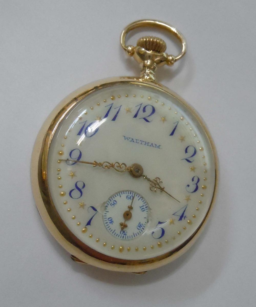 14K GOLD WALTHAM POCKET WATCH Circa 1913 -JUST SERVICED