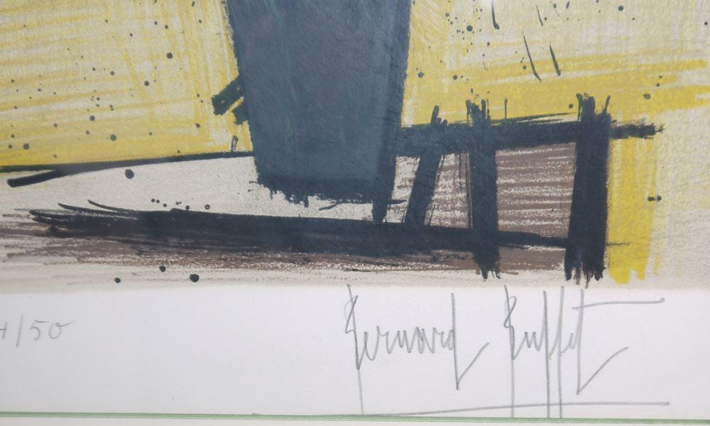 Bernard Buffet, Le Chrysanthème du Japon, signierte Farblithographie, gerahmt