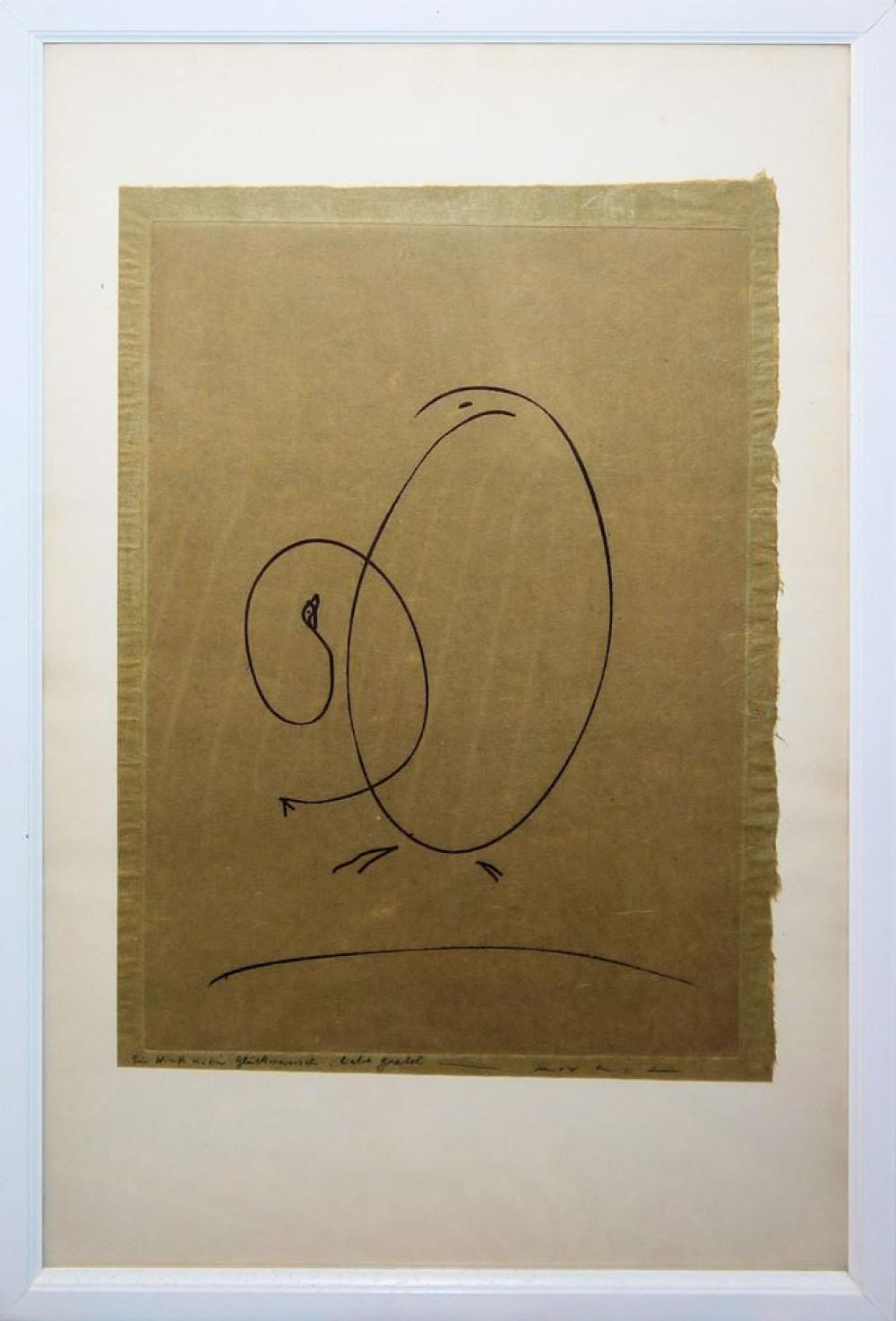 """Max Ernst, """"Tout en un plus un"""", Radierung von 1971, gerahmt"""