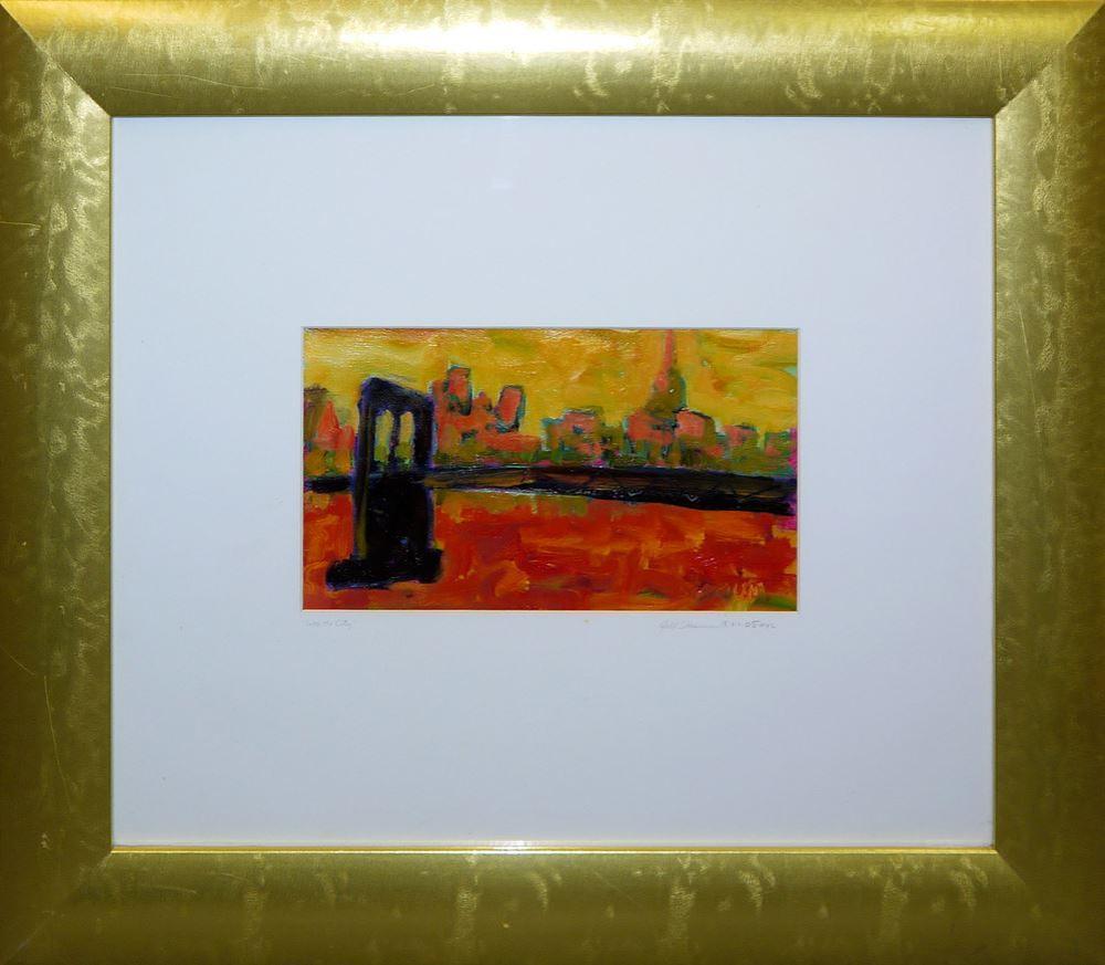 "Jill Stasium, ""Into the city""- New York, Ölgemälde in Galerierahmung"
