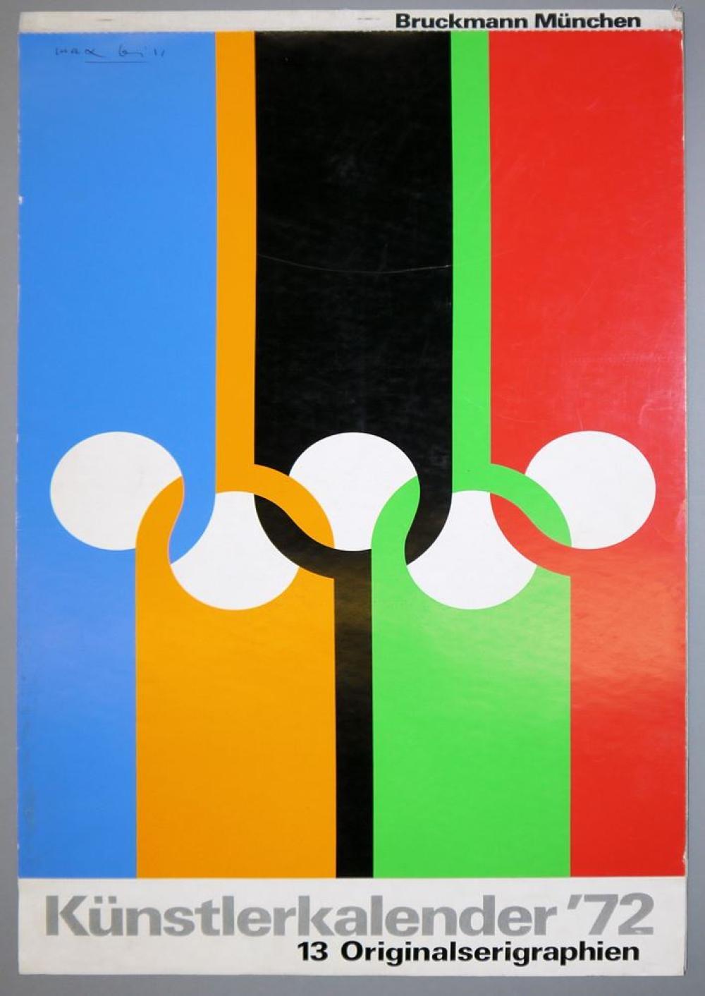 Künstlerkalender '72 (1972) mit 13 Originalserigraphien Für Selbstbesichtiger!