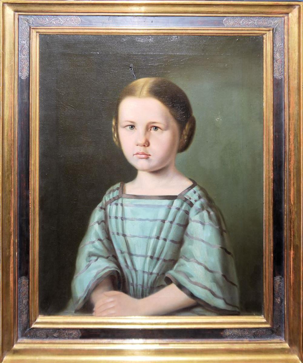 2 Kinderportraits der 1. Hälfte des 19. Jh., Mädchen und Junge, beide gerahmt