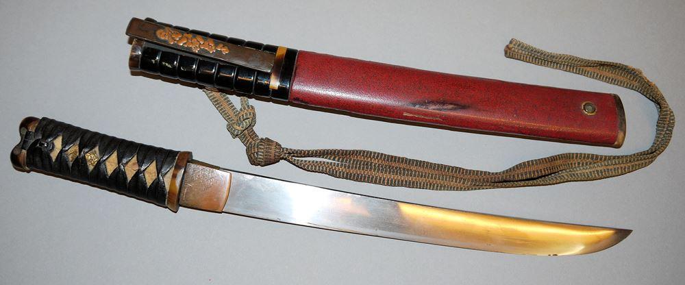 Aikuchi Tanto, japanisches Kurzschwert der Edo/Meiji-Zeit