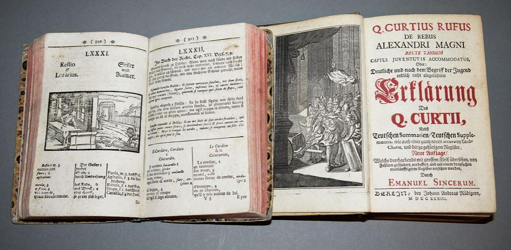 2 Bücher zu Geschichte, Geographie und Astronomie, 1733/1755