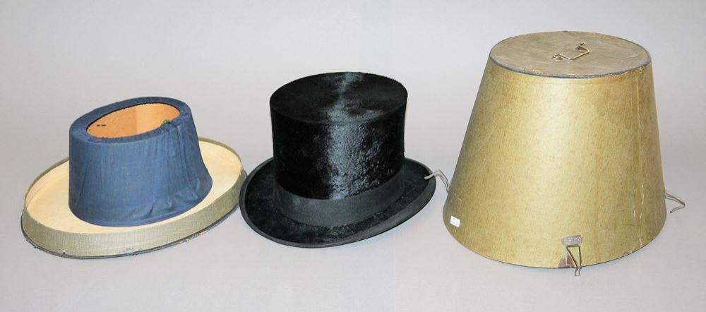 Zylinder aus Maulwurfsfell mit Original Hutschachtel um 1900/20