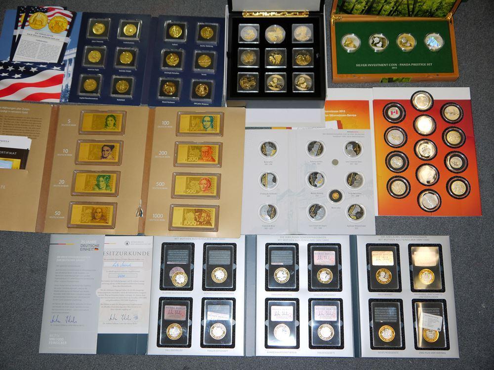 Große Sammlung Münzen und Medaillen & Gold-Banknoten, Sondereditionen usw.