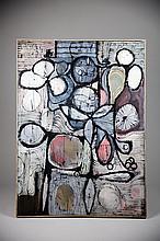 KENNETH GEORGE NACK, Arcylic on Canvas, C.1956