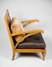 French Moderne Style Low Armchair
