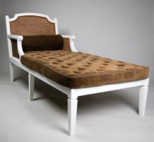 Irving & Casson Cane & Painted Wood Chaise