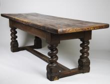Early 17th C. English Oak Refectory Table