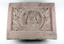19th C. Brownstone Architectural Plaque in the Classical Style