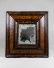 Continental Burled Walnut Mirror, 18th C.