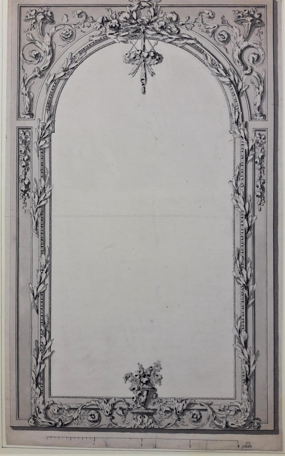Ecole française XVIIIème. Projet de cadre ou de mi…