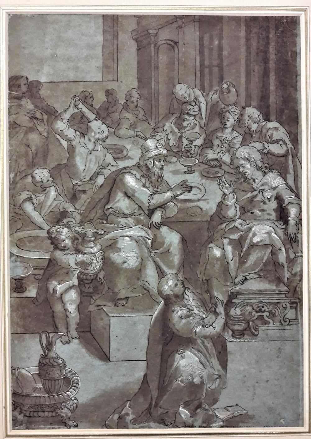 Ecole Romaine du XVIème siècle. Le lavement des pi…