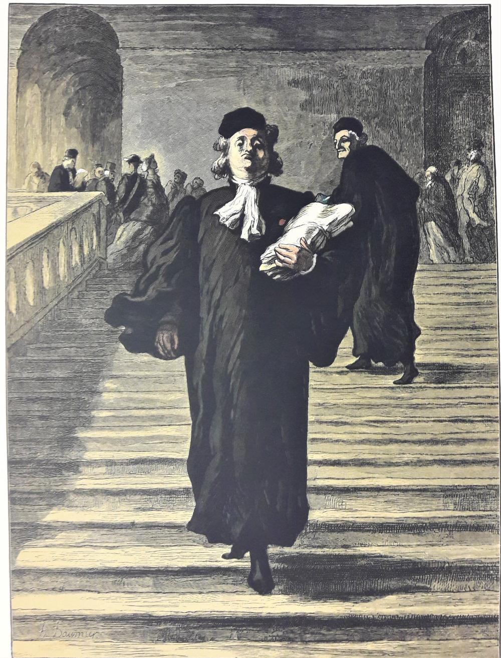 DAUMIER Honoré (1808-1879) d'après «L'avocat desc…