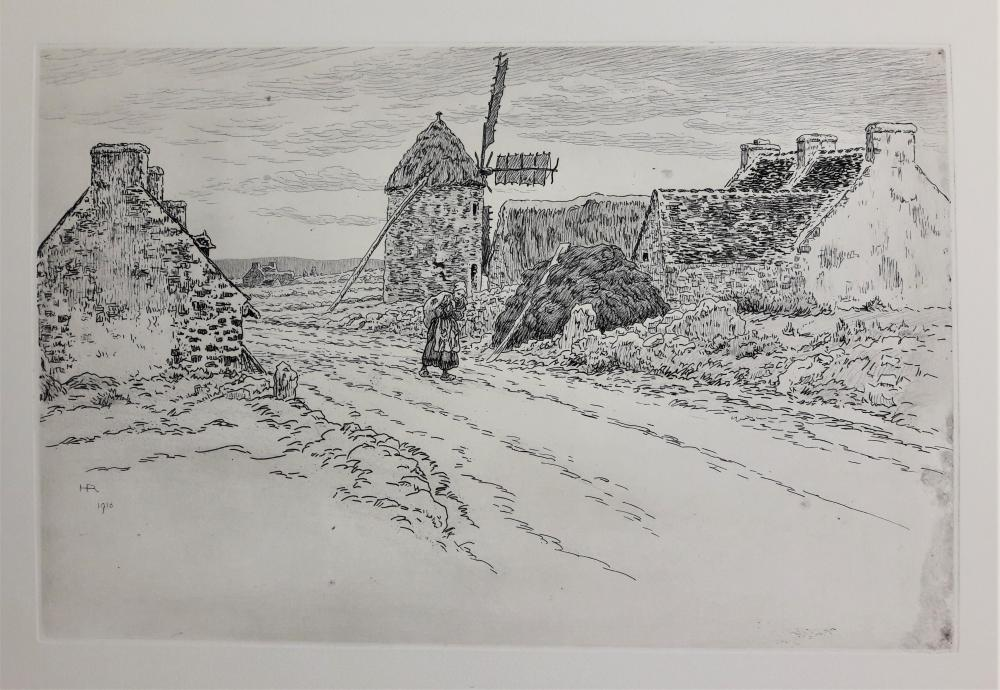 RIVIERE Henri (1864-1951) – «La route de la Palue…