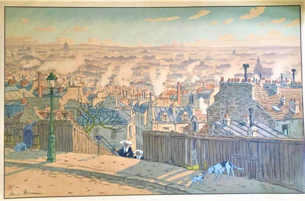 RIVIERE Henri (1864-1951) «Paris vu Montmartre ». …