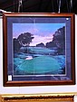 Golf Course print - putting green.