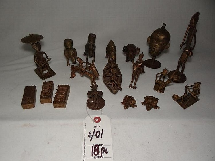 18pc Brass Figures