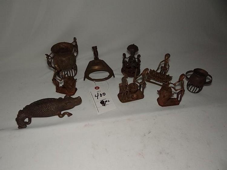 9pc Brass Figures