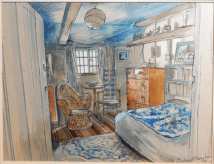 Richard Bawden (b.1936) - The Attic room,