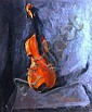 Neale Worley-Violin, oil on canvas, signed and, Neale Worley, Click for value