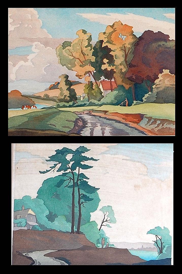 Eric Slater (b.1896)-Autumn Morning and Evening,