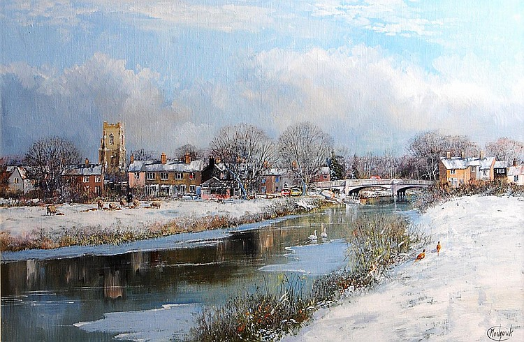 Clive Madgwick (1934-2005)-A winters day at the